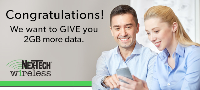 Increase your 10gb plan to 12gb for free