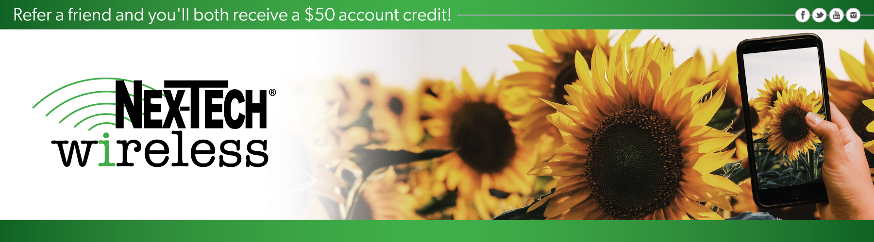Refer a friend and you'll both receive a $50 account credit!